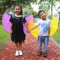 兒童雨衣 兒童飛碟雨衣 無柄雨傘 兒童雨衣 造型雨衣 可愛雨衣 雨帽飛碟傘