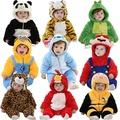 外貿嬰兒衣服_外貿嬰兒衣服 法蘭絨動物造型爬服 ins爆款 新生兒