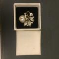 Cordate珍珠花朵戒指