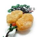 【墨寶齋製筆莊】天然黃玉貔貅掛飾-大