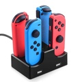Nintendo Switch NS Games Console Gamepad Handles Four Charger US Plug Game Accessories Black
