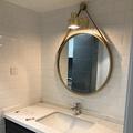鏡子 鐵藝壁掛鏡圓形鏡子化妝鏡浴室鏡圓鏡試衣鏡創意鏡洗漱浴室鏡 MKS卡洛琳