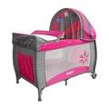 EMC 豪華型嬰幼兒安全遊戲床(幸福紅)含雙層架+尿布台