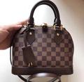 Louis Vuitton Alma bb กระเป๋าสะพายหลุยส์ผู้หญิง size: 25x18x12cm กระเป๋าเกรดไฮเอ็น ดูดีมีฐานะ หนังแท้  Monogram