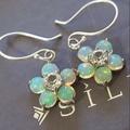 ต่างหูโอปอลแท้ (Natural opal earrings)