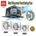 KDK WINDOW MOUNT EXHAUST / 20AUH / 25AUH / 30AUH / VENTILATION FAN / 20/25/30CM