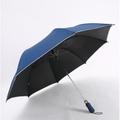 新型 56吋 黑膠 防曬 自動開 四人雨傘 56吋傘〈LEBONS〉