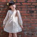 Ángeles安荷設計師精品童裝米色典雅公主風蕾絲洋裝2歲至7歲