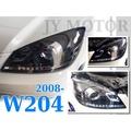 小傑車燈-賓士 W204 07 08 09 10 11 c300 c200 類 C250 小C 黑框燈眉 R8 魚眼大燈