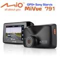 Mio MiVue™ 791 星光頂級夜拍GPS行車記錄器+16G+點煙器+擦拭布+手機矽膠立架+立架貼 黑色