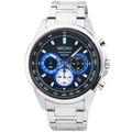 SEIKO日系精工極速三眼計時錶-藍 / SSB243P1