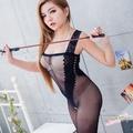 貓裝情趣內衣褲 開檔連身絲襪貓裝式情趣睡衣台灣製 流行E線