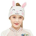 Kids Headphones - Easy Adjustable Kids costume Headband SILKY Headphones for Children, Perfect for Travel and Home - Rabbit