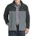 美國百分百【全新真品】Columbia 外套 夾克 立領 哥倫比亞 Fleece 灰色 深灰 刷毛 保暖 S號 F757
