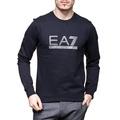 美國百分百【全新真品】Emporio Armani 長袖T恤 EA7 運動 T-shirt 大學T 深藍 XS H823