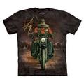 【摩達客】美國進口The Mountain哈雷騎士(預購) 純棉環保短袖T恤
