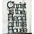 基督是我家之主-黑色 Cross/經文掛飾/壁貼/擺飾/禮品