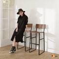 【BuyJM】LOFT工業風曲木高腳椅/吧檯椅/兩色可選