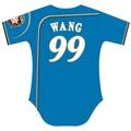 北海道日本火腿隊 背號球衣 99王柏融選手 短袖 藍底 火腿隊15周年紀念版球衣