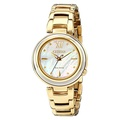 Citizen Eco-Drive Women's EM0334-54D Citizen L Sunrise Analog Display Gold Watch - Intl
