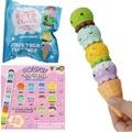Puni Maru Rare Stack Octopus Ice Cream Squishy With Magnet 4CM Licensed Slow Rising Original Packagi
