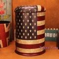 [HOME]美式復古星條旗收納椅 鐵桶凳 工業風loft鐵桶椅 油桶凳 置物桶 收納凳 餐椅酒吧 主題佈置裝飾
