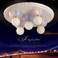 【光的魔法師 Magic Light】安卡拉吸頂五燈 -- 粉藍色 可使用LED燈泡 客廳燈