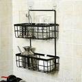 收納掛籃收納籃 浴室衛生間牆掛式置物架鐵藝廚房雜物 1995生活雜貨NMS