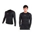 (男) FIRESTAR 緊身長袖T恤-慢跑 路跑 運動T恤  黑灰