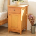 CiS自然行實木家具 收納櫃-原木床頭櫃-矮櫃(柚木色)