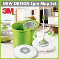 3M Scotch-Brite 360° Spin Mop Bucket Set/ 100% Microfiber Mop/ with Additional Free Mop Head !