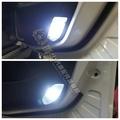 LUXGEN納智捷S5【LED車門燈-2顆】前門邊燈 超白光 暖白光 冰藍色 警示 氣氛燈 ECO全車專用小燈 大燈改裝