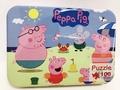Peppa pig佩佩豬/多款卡通拼圖木頭拼圖100片