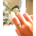 日本nojess風格橢圓形天然倫敦藍托帕石戒指疊加帶925純銀鍍14K開口調節戒指