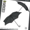 【美人傘 5年保固】BLUNT LITE3+ 美人勾勾傘 完全抗UV 時尚黑 保蘭特直傘 抗強風傘 防反雨傘 智慧型口袋