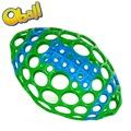 OBALL 嬰兒橄欖球動洞球(麗嬰兒童玩具館)