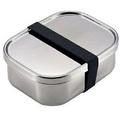 日本品牌【AIZAWA/相澤工房】不鏽鋼長型便當盒附束帶670ml J-01-AZK-023