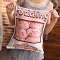 情人節禮物 卡通創意可愛一大袋布丁豬抱枕毛絨玩具玩偶