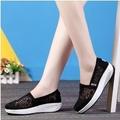 รองเท้าผ้าใบ รองเท้าเพื่อสุขภาพ รองเท้าลำลองเสริมส้น พื้นสูง 4 cm แฟชั่นเกาหลี