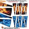 橙皮視覺TOYOTA WISH原廠 16吋鋁圈五爪輪框專用一組20張紅火焰機械賽車旗質感系列彩繪防水貼紙反光貼紙