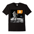 New Summer Bitcoin To The Moon Cotton Tee Shirt