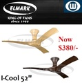 Elmark Ceiling Fan / I-cool 52 inch / With Remote Control / 1 year Local Warranty