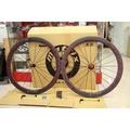 [休閒水岸單車]MATRIX T50AZ-3K管胎板輪組 扁鋼絲 碳纖輪組(紅色)