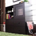 NEW !! DIY Installation High Quality/Fashion Design storage cabinet/ TV console (Two color options and total 2 different type of combo)(Coffee)