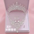 新娘頭飾套裝皇冠三件套飾品(本禮服出售/出租均可)