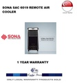 SONA REMOTE AIR COOLER * MODEL:SAC 6019 * 1 YEAR WARRANTY