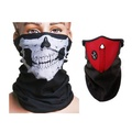 Motorcycle Face Neck Ski Warm Mask Red and Skull Face Mask Scarf