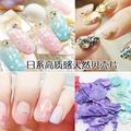 歐美美甲天然貝殼片貝殼粉系列 日系新款鮑魚片本色粉光療甲指甲油貼美甲