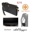 Tory Burch Brody Pebbled Wallet Crossbody Bag Black  100% authentic purchase from Tory Burch shop