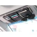 威力鯨車神 韓國熱銷頂級皮製多隔層汽車收納包/汽車用卡片收納袋/遮陽板收納包